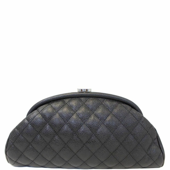 CHANEL Handbags - CHANEL Timeless Caviar Quilted Leather Clutch